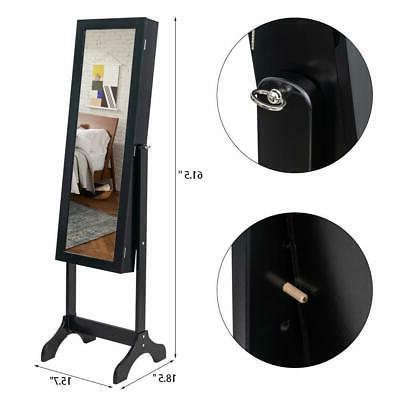 Practical Lockable Cabinet Armoire Organizer Storage Standing