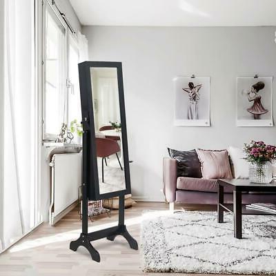 practical lockable mirror jewelry cabinet armoire organizer