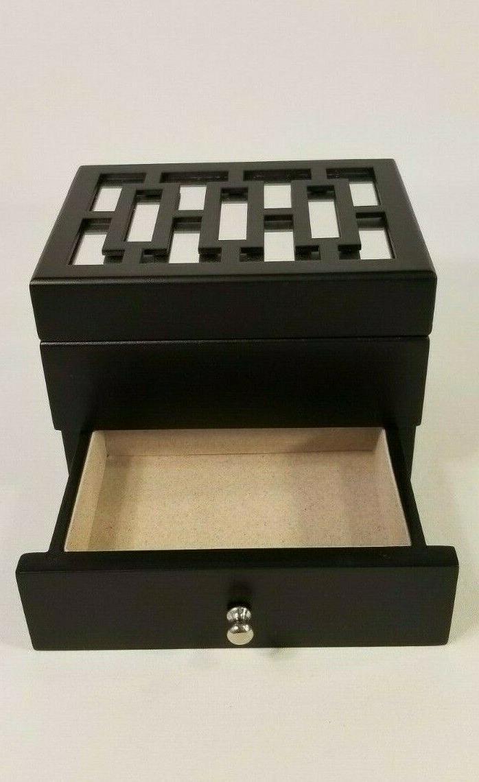 small jewelry organizer armoire storage top mirror