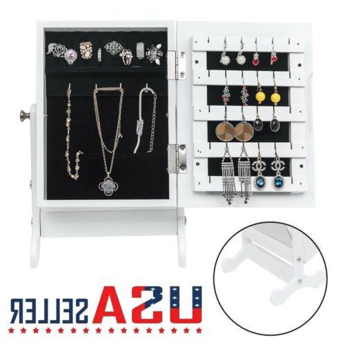 small mirror jewelry cabinet organizer armoire countertop