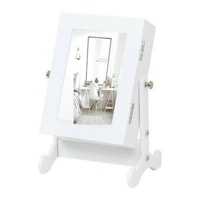Small Mirror Cabinet Organizer Armoire Box Countertop