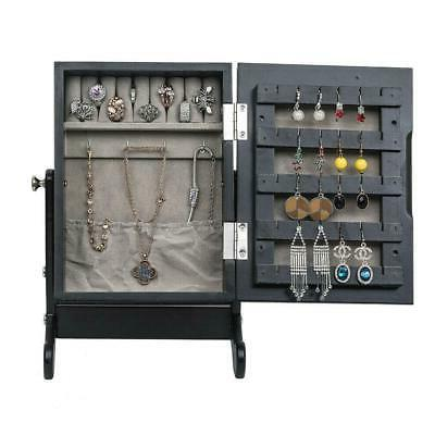 Small Mirrored Cabinet Organizer Countertop Black