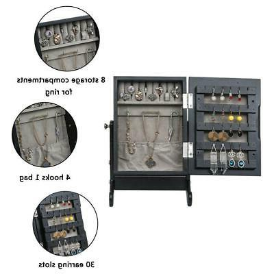 Small Organizer Armoire Storage Countertop Black