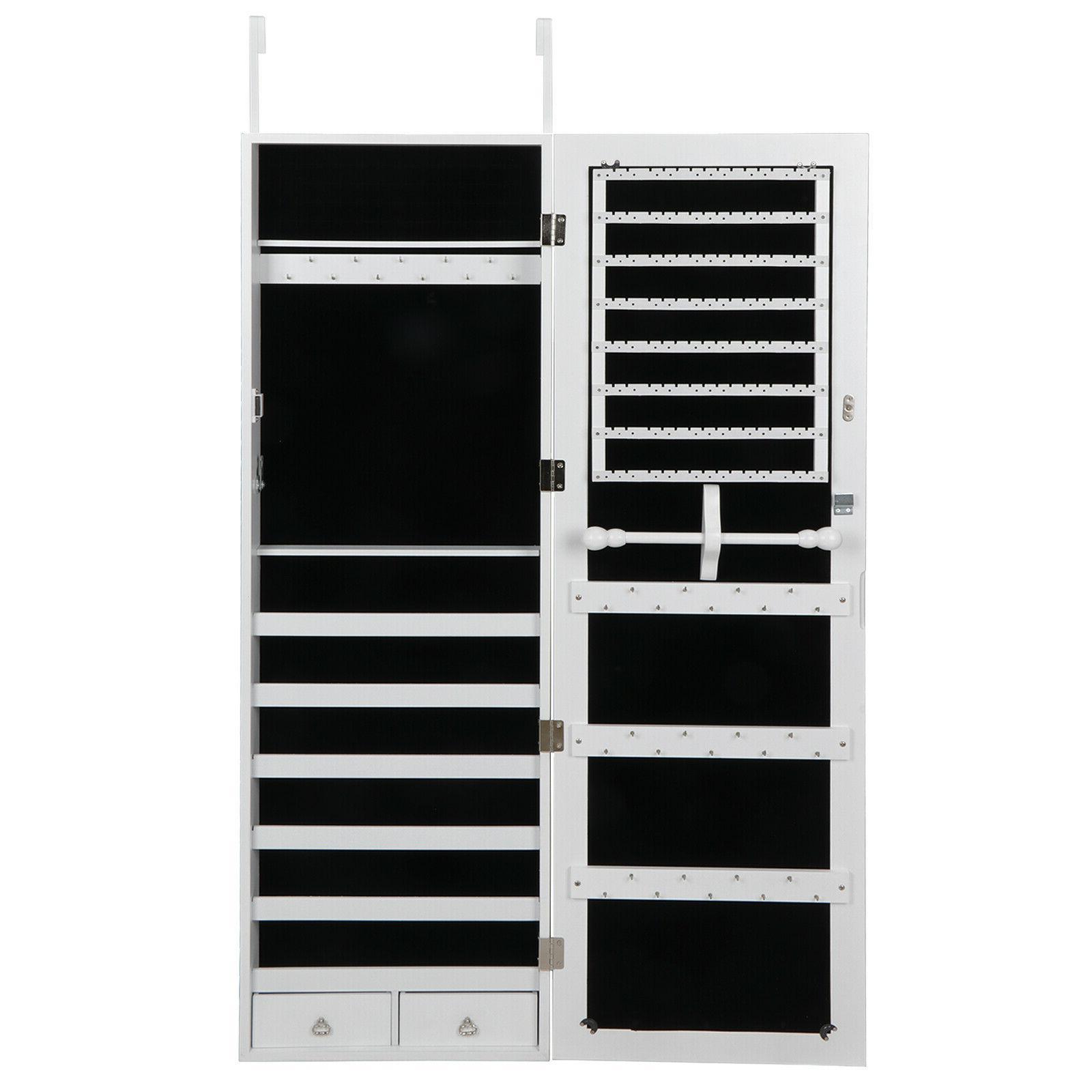 Lockable Jewelry Cabinet Door Wall Hang Mounted Organizer Ar