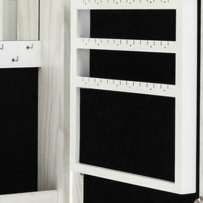 Wall Makeup Box Mirror Bathroom Cabinet Wood White