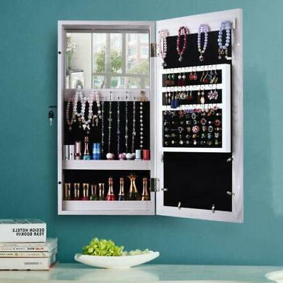 wall mounted makeup jewelry box photo mirror