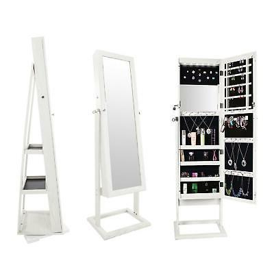 white dressing mirror jewelry cabinet armoire organizer