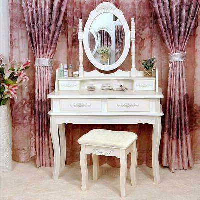white vanity makeup dressing table set w