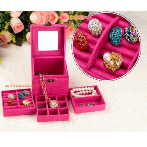 Women Jewelry Box Organizer Holder