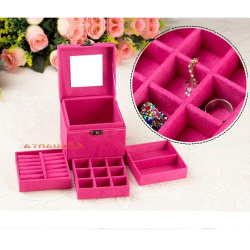Women Jewelry Mirrored Organizer Holder