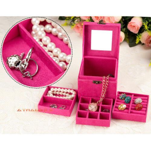 Women Jewelry Box Storage Organizer Holder