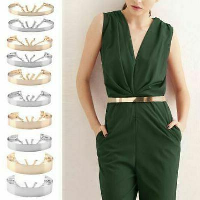 womens gold plate full metal mirror waist