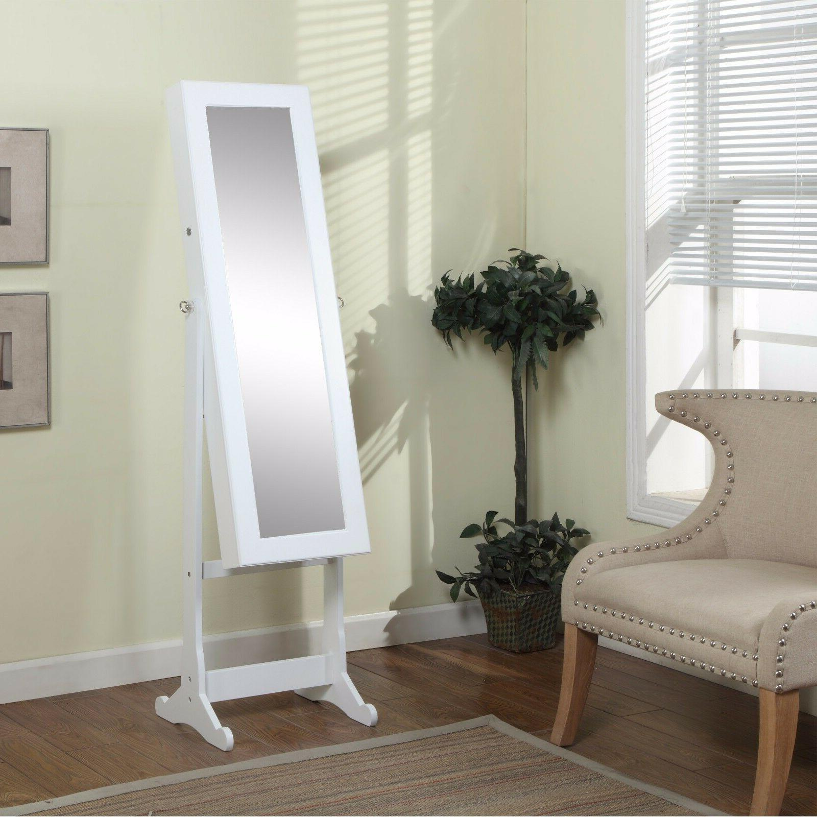 Artiva USA - White Wood Finish – Free Standing Cheval Mirr
