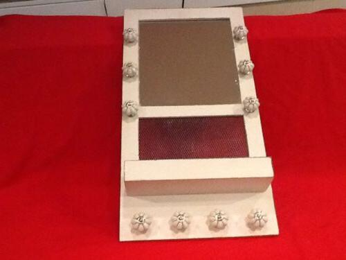 wooden jewelry rack well made with mirror