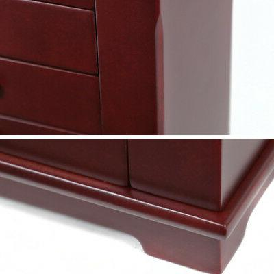 Red Armoire Storage Cabinet 5