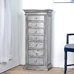 Hives and Honey Landry Smoke Grey Jewelry Armoire Standing C