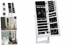 LANGRIA Mirrored Jewelry Cabinet Organizer, Full Length Stan