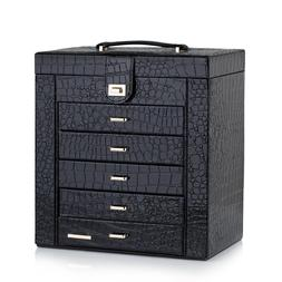 Large Jewelry Box Case Necklace Ring Storage Cabinet Organiz