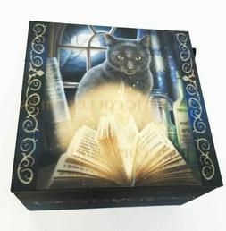 Lisa Parker Magical Bewitched Cat With Glowing Spell Book Je