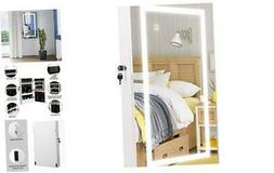 Lockable Jewelry Cabinet Armoire Wall Mount Touch Screen LED