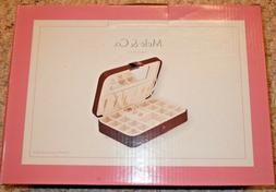 Mele & Co Since 1912 - Brown Velour Jewelry Box With Mirror
