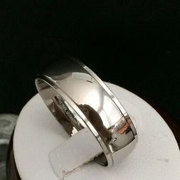 MEN'S SOLID TITANIUM  WEDDING ANNIVERSARY BAND RING MIRROR P