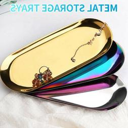 Metal Tray Frui Storage Plate Item Jewelry Candle Display Co