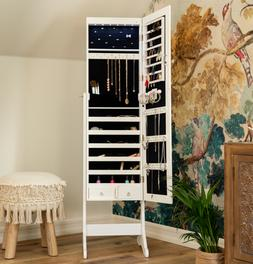 Mirror Jewelry Cabinet Full Length Armoire For Women Clearan