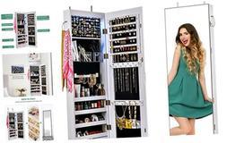 Mirror Jewelry Cabinet JewelryArmoireLockableJewelry