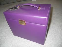 Venus Collection Mirrored Jewelry Box Organizer Faux Leather