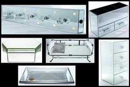Mirrored Jewelry Boxes and Vanity Trays