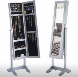 Mirrored Jewelry Cabinet Organizer