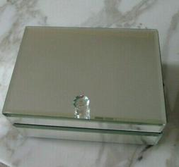 Pottery Barn Teen Mirrored Stackable Jewelry Box New