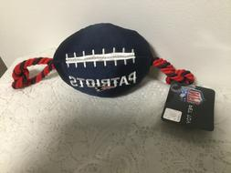 NEW ENGLAND PATRIOTS FOOTBALL DOG TOY ROPE NFL TEAM PETS FIR