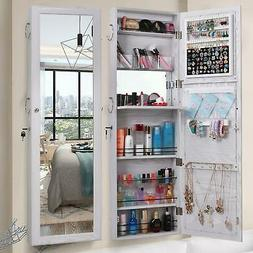 New Jewelry Mirror Storage Cabinet Door Wall Mounted Jewelry