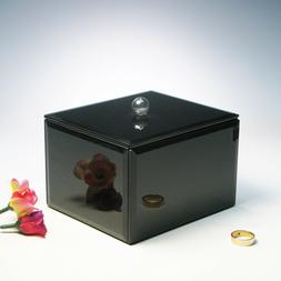 New Mysterious Black Mirrored Crystal Rectangular Jewelry Bo
