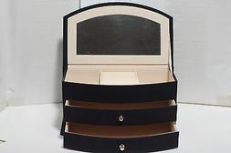 NEW Jaclyn Smith PVC Jewelry Box - Black Color - 2 Drawers -