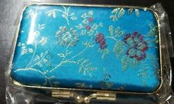 One Small New Trinket/ Jewelry Box~ Brocade Style Fabric! Mi
