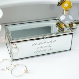 Personalised Engraved Luxury Mirrored Jewellery Box Birthday
