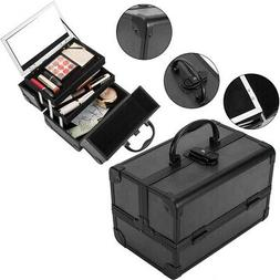 "Pro 9"" Aluminum Makeup Train Case Jewelry Box Cosmetic Organ"