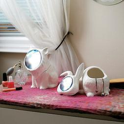 Alice In Wonderland Rabbit Mirror Jewelry Box Vanity Bath Or