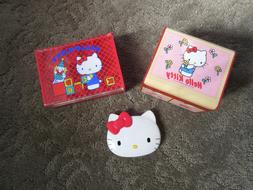 Rare Vintage Hello Kitty Plastic Jewelry Boxes  and Compact