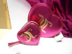 Set of Two Juicy Couture Jewelry Boxes Pink Heart with Mirro