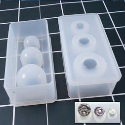 Silicone Mold Mirror Craft DIY Jewelry Making Ball UV Resin