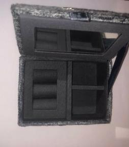 Small Grey Velvet Jewelry Ring And Trinket Box W/ Mirror Dia