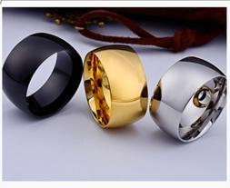 Smooth Mirror Men's Thumb ring Titanium Steel Men's Fashio