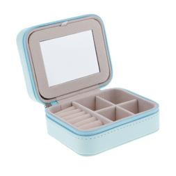 Travel Jewelry Box Organizer PU Leather Portable Storage Cas