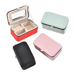 Portable Jewelry Case Organizer Earring Bracelet Storage Hol