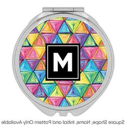 Triangles Colorful : Compact Mirror Gift Design Drawing Mode