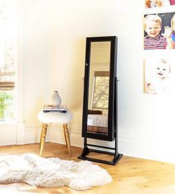 Alveare Home Trista Standing Mirror With Jewelry Storage, Es